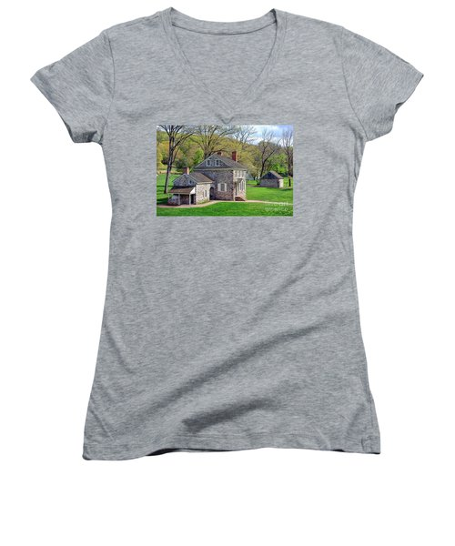 George Washington Headquarters At Valley Forge Women's V-Neck (Athletic Fit)