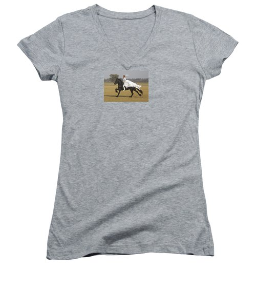 Get Me To The Church On Time Women's V-Neck