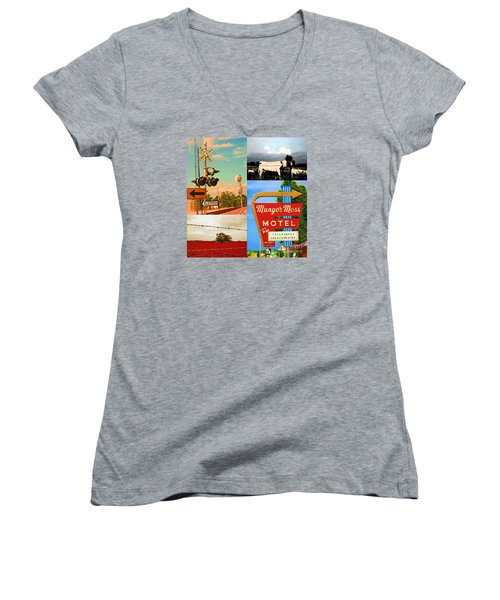 Getting My Kicks On Route 66 Women's V-Neck T-Shirt