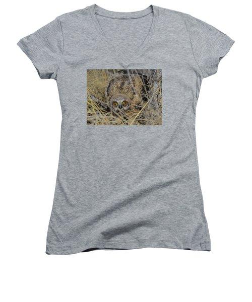 Hidden Women's V-Neck T-Shirt