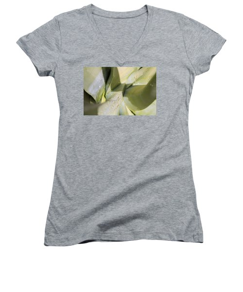Giant Agave Abstract 3 Women's V-Neck