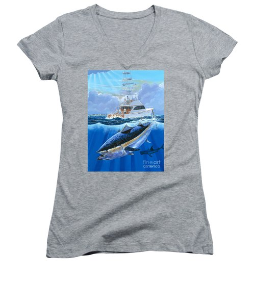 Giant Bluefin Off00130 Women's V-Neck (Athletic Fit)