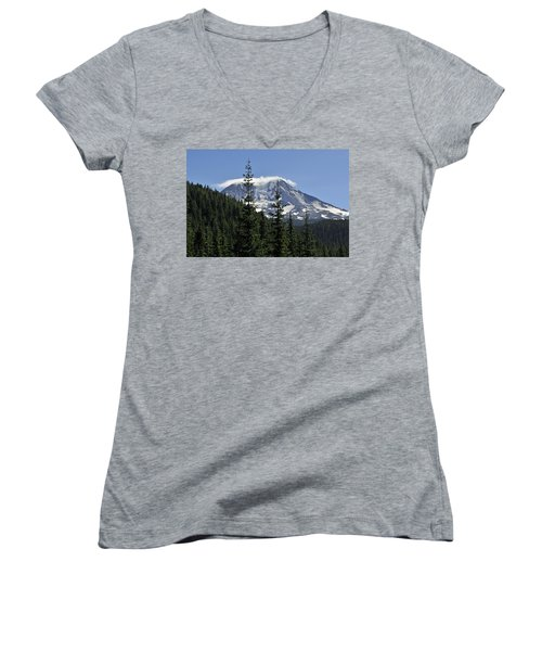 Gifford Pinchot National Forest And Mt. Adams Women's V-Neck