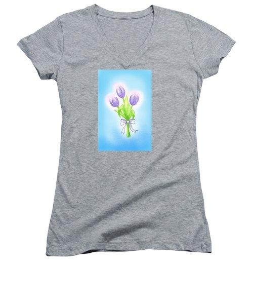 Gift Women's V-Neck T-Shirt (Junior Cut) by Keiko Katsuta