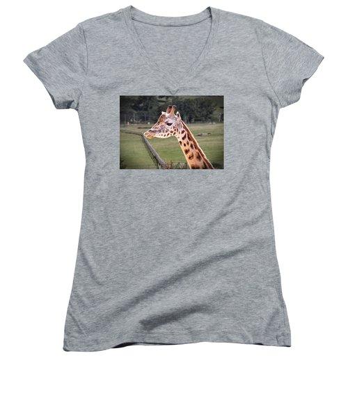 Giraffe 02 Women's V-Neck