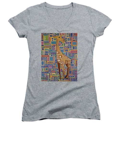 Giraffe Women's V-Neck