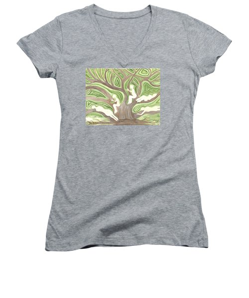 Girls In A Tree Women's V-Neck (Athletic Fit)