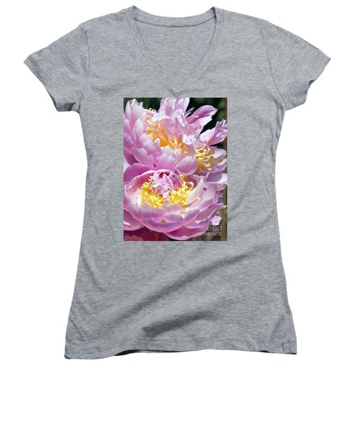 Women's V-Neck T-Shirt (Junior Cut) featuring the photograph Girly Girls by Lilliana Mendez