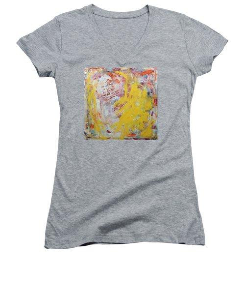 Give Me A Rose Women's V-Neck (Athletic Fit)