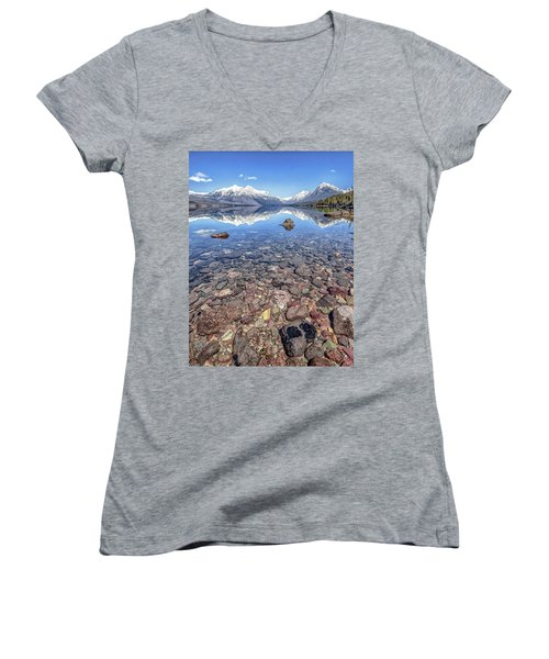 Glacial Lake Mcdonald Women's V-Neck T-Shirt