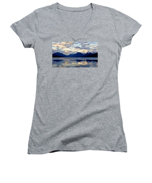 Glacier Morning Women's V-Neck (Athletic Fit)