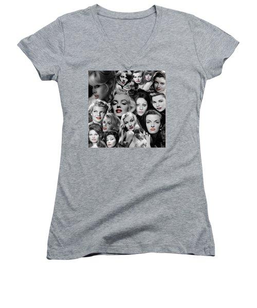 Glamour Girls 1 Women's V-Neck T-Shirt