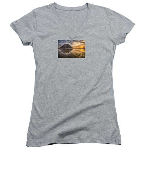 Glorious Women's V-Neck T-Shirt (Junior Cut) by Alice Cahill