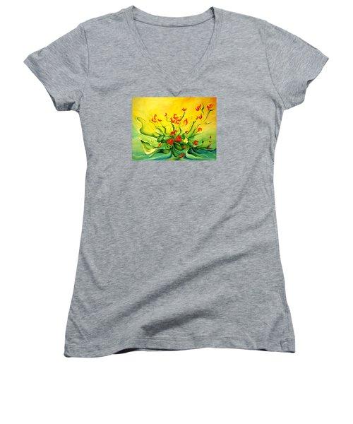 Glorious Women's V-Neck T-Shirt (Junior Cut) by Teresa Wegrzyn