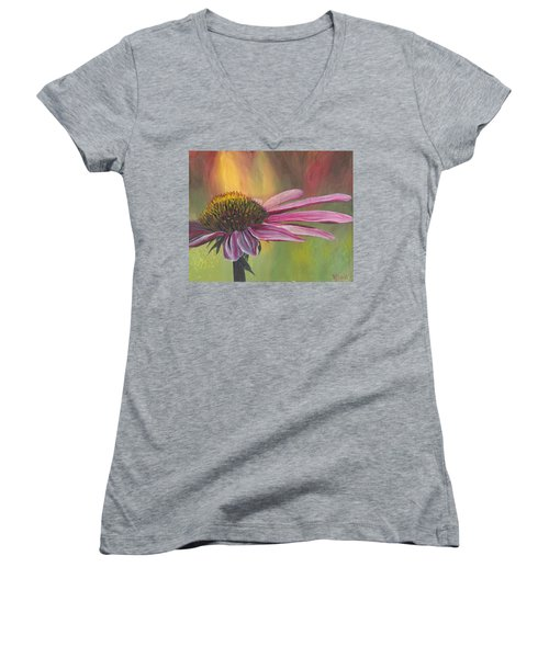 'glory In Bloom' Women's V-Neck (Athletic Fit)