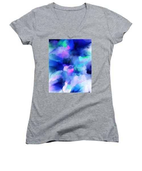 Women's V-Neck T-Shirt (Junior Cut) featuring the digital art Glory Morning by David Lane