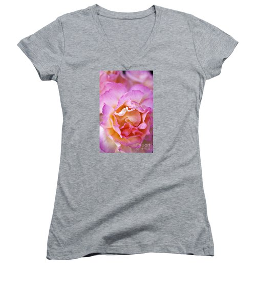 Women's V-Neck T-Shirt (Junior Cut) featuring the photograph Glow From Within by David Millenheft