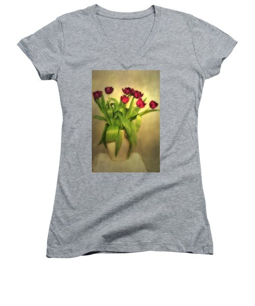 Glowing Tulips Women's V-Neck