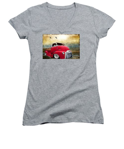 Gmc 350 Women's V-Neck T-Shirt (Junior Cut) by Liane Wright