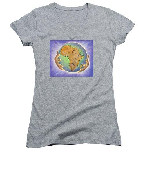 God Bless Africa Women's V-Neck T-Shirt