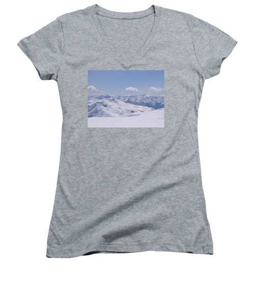 Gods Country Women's V-Neck T-Shirt (Junior Cut) by Brian Williamson