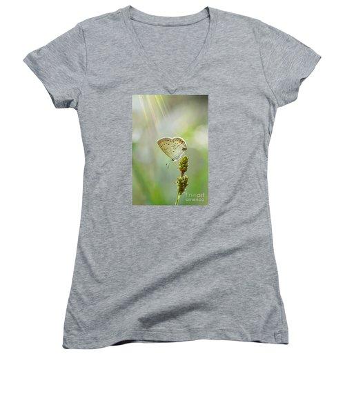 God's Love Shining Down Women's V-Neck T-Shirt