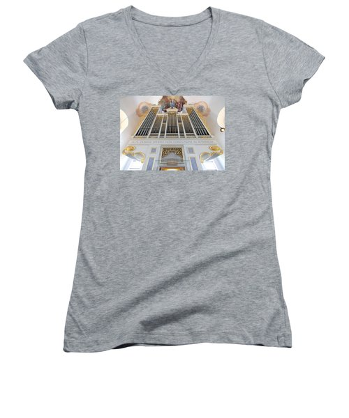 Gold And Blue Pipes Women's V-Neck