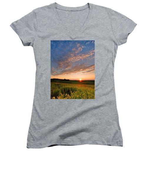 Golden Fields Women's V-Neck T-Shirt