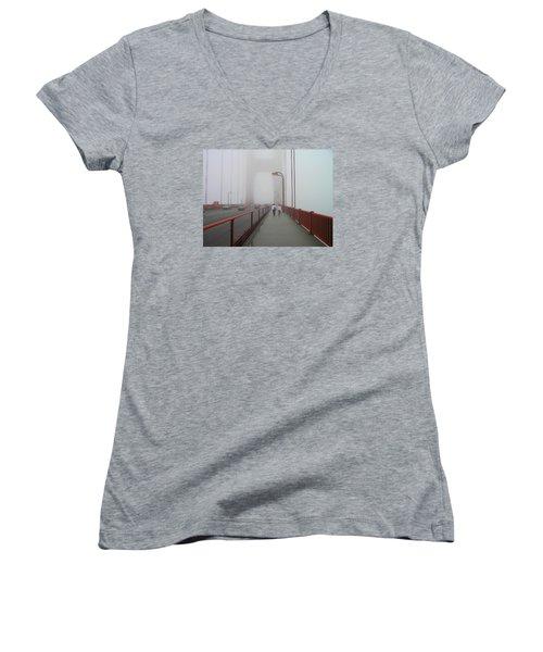 G. G. Bridge Walking Women's V-Neck T-Shirt