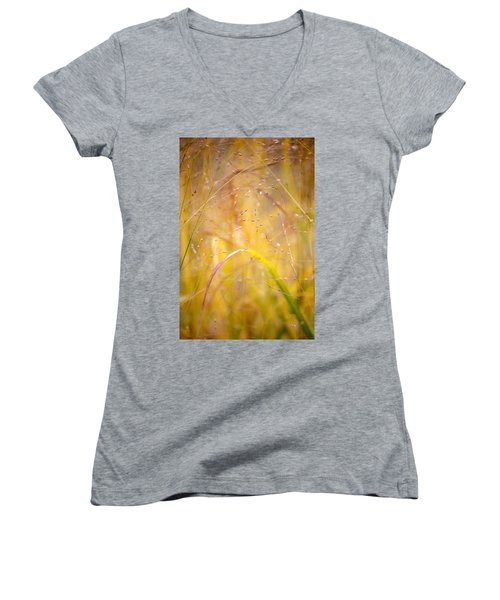 Golden Grass Women's V-Neck (Athletic Fit)