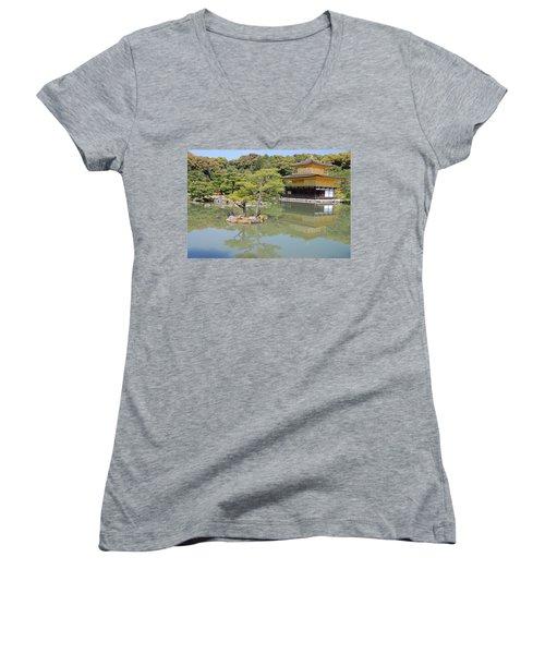 Golden Pavilion Women's V-Neck T-Shirt