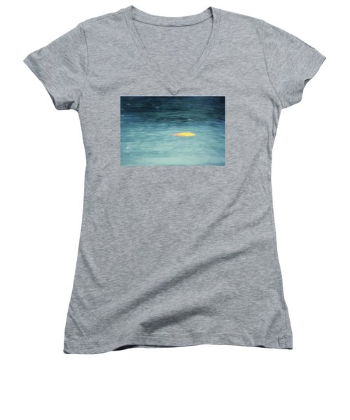 Women's V-Neck T-Shirt (Junior Cut) featuring the photograph Golden Reflections by Melanie Lankford Photography