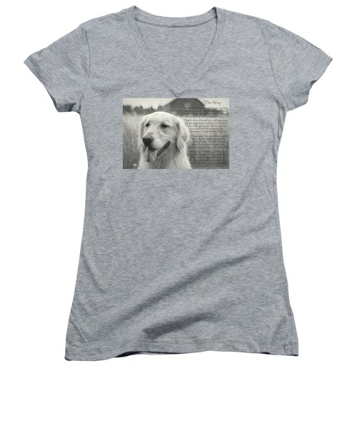 Golden Retriever The Way Women's V-Neck (Athletic Fit)