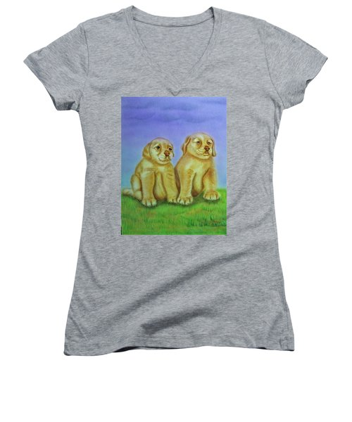 Golden Retriever Women's V-Neck