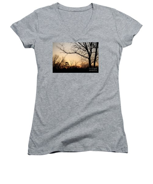Golden Sunset Women's V-Neck
