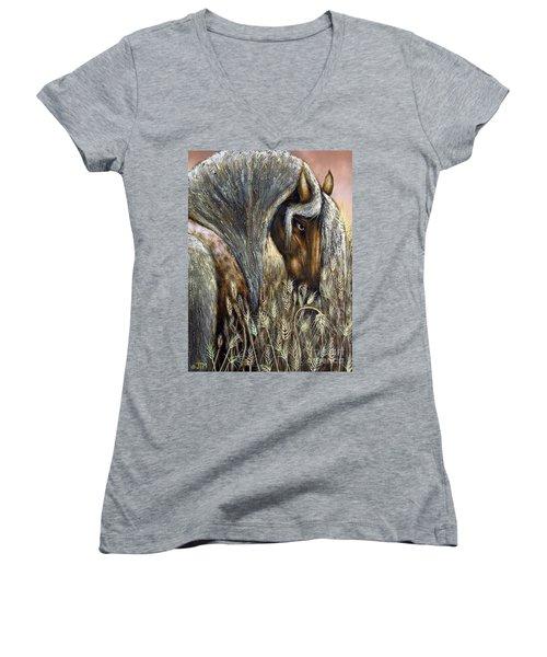 Golden Years Harvest Women's V-Neck T-Shirt