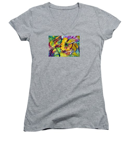 Good Days Women's V-Neck T-Shirt (Junior Cut) by Harsh Malik