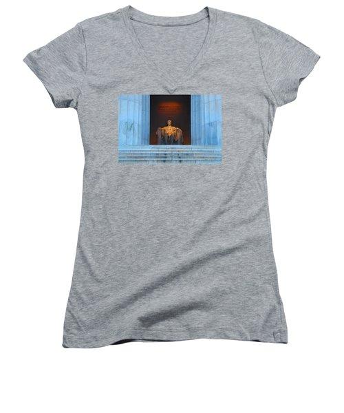 Good Morning Mr. Lincoln Women's V-Neck T-Shirt