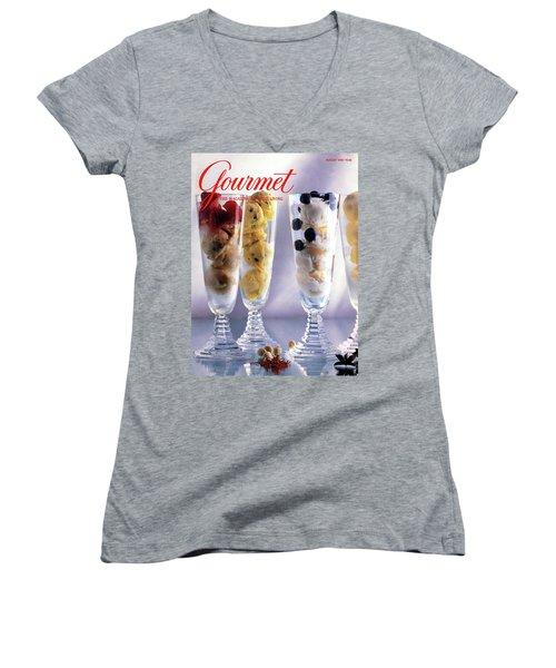 Gourmet Magazine Cover Featuring Ice Cream Women's V-Neck