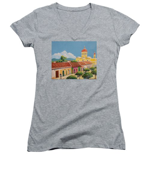 Granada Cathedral Women's V-Neck (Athletic Fit)