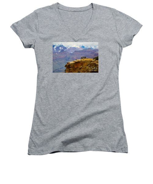 Grand Canyon Clearing Storm Women's V-Neck (Athletic Fit)