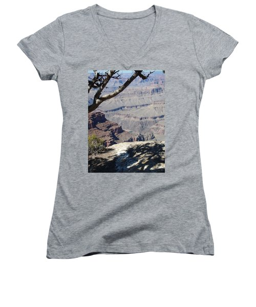 Women's V-Neck T-Shirt (Junior Cut) featuring the photograph Grand Canyon by David S Reynolds