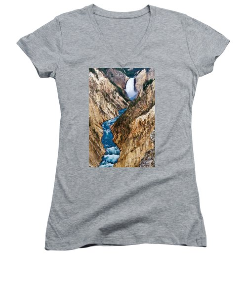 Grand Canyon Of Yellowstone Women's V-Neck (Athletic Fit)