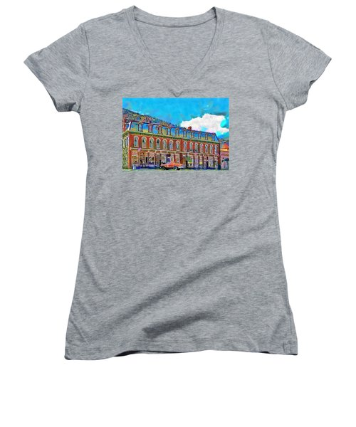 Grand Imperial Hotel Women's V-Neck (Athletic Fit)