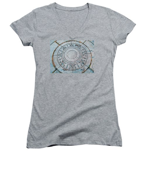 Granite Compass Women's V-Neck (Athletic Fit)