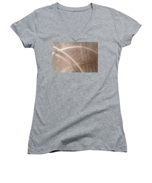 Grass - Abstract 2 Women's V-Neck (Athletic Fit)