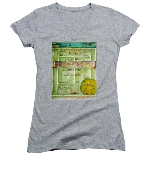 Grass Greats Women's V-Neck T-Shirt