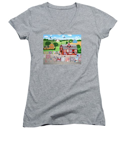 Great American Quilt Factory Women's V-Neck (Athletic Fit)