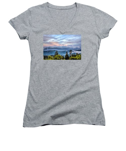 Great Smoky Mountains Women's V-Neck (Athletic Fit)