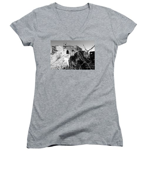 Great Wall Ruins Women's V-Neck